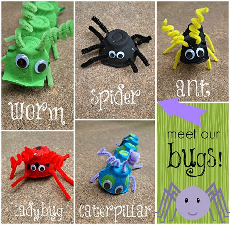 bug crafts for snap crafts egg bugs kid craft tutorial