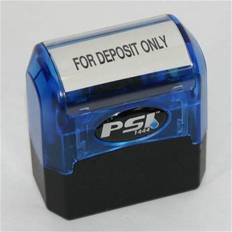 accounting rubber sts deposit only st