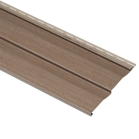 Shop Georgia Pacific Vinyl Siding Hearthstone Brown Wood