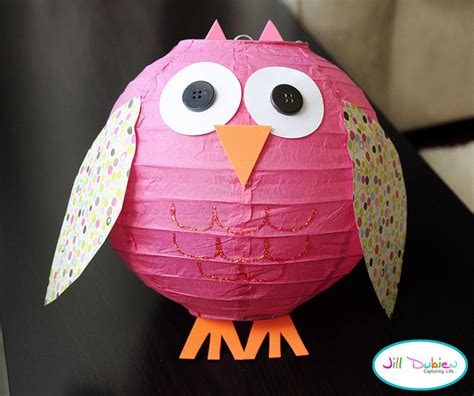 owl crafts make an owl lantern 187 dollar store crafts