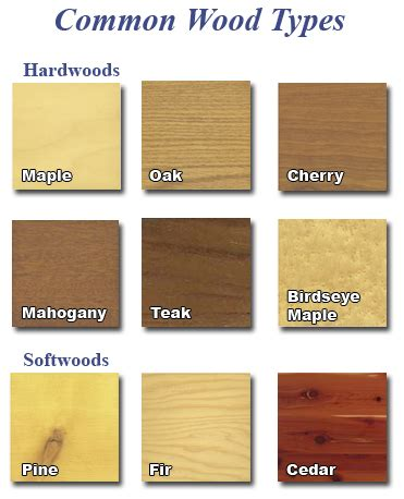 types of woodwork different types of wood as