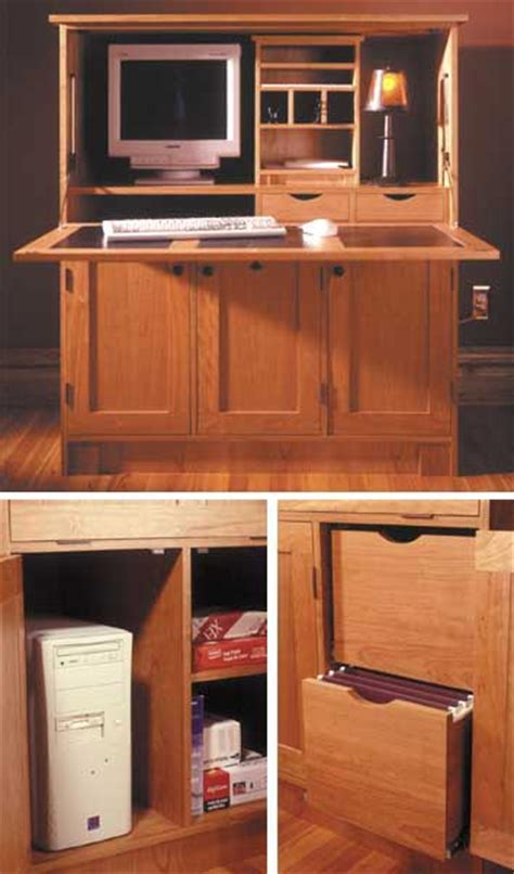 office furniture woodworking plans home office hideaway computer desk woodworking plan from