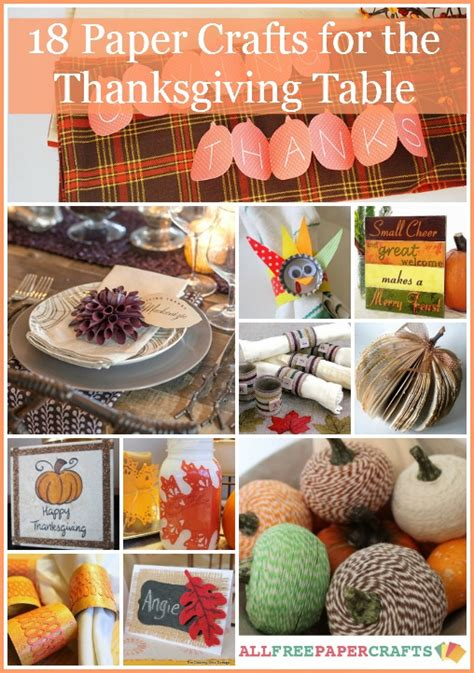 thanksgiving table crafts for thanksgiving table ideas 18 paper crafts for the