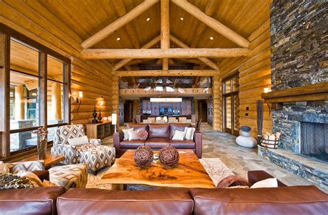 modern log home interiors luxury log home plans with bold accents ideas 4 homes