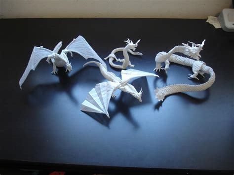 how to make complicated origami mega complex origami dragons by origami artist galen on