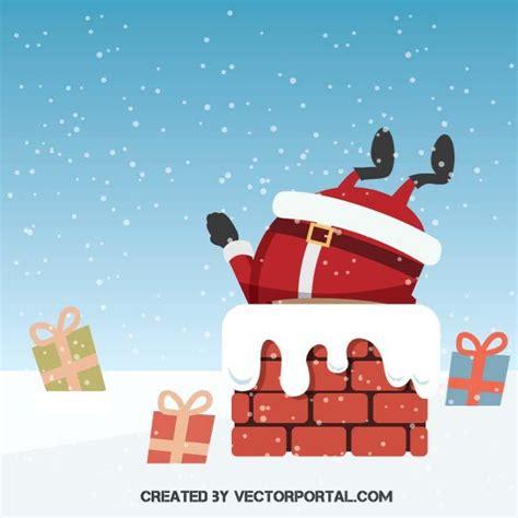 santa for santa claus in a chimney at vectorportal