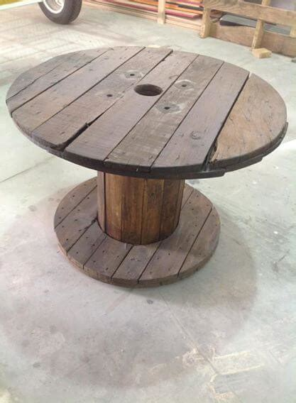 cable coffee table pallet and cable spool table set pallet furniture diy