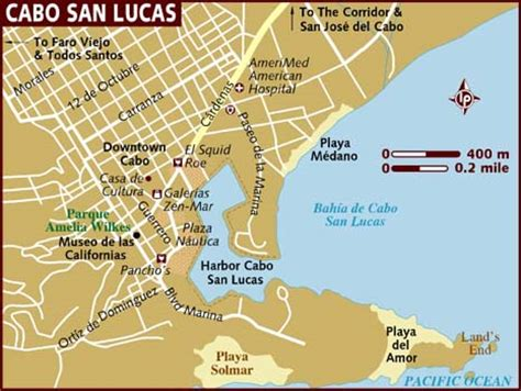 cabo san lucas mapa map of cabo san lucas city area map of mexico regional