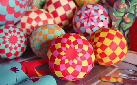 paper balls craft make woven paper balls and more how about orange