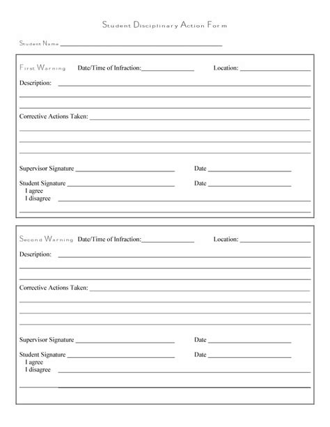 46 effective employee write up forms disciplinary