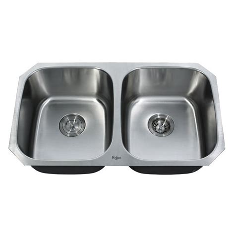 stainless undermount kitchen sinks kraus kbu22 undermount basin kitchen sink
