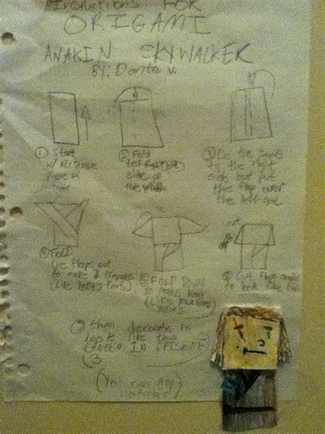 how to fold origami anakin skywalker superfolder dante s for anakin skywalker