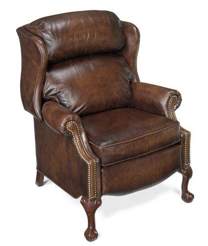 leather wingback recliner bradington furniture chippendale wingback leather recliner