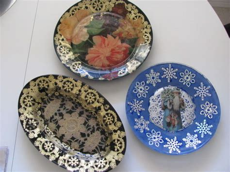 how to decoupage plates decoupage glass plate 6 steps with pictures