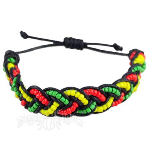 rasta bead bracelet rasta braided coco bracelet rastaempire