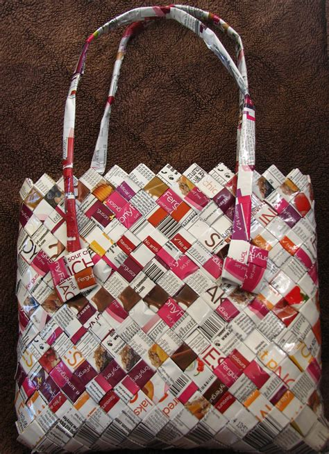 bag crafts handbag made from recycled plastic packets all tony
