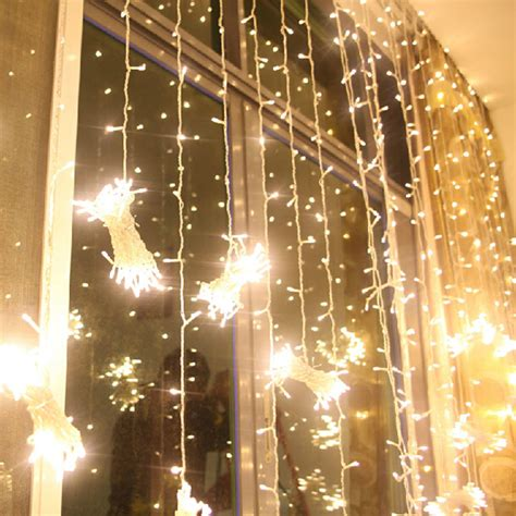 led wedding lights 3x3m warm white 300 led net curtain string lights