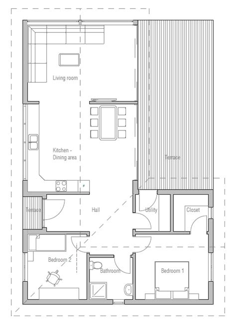 small efficient house plans small house plan with efficient room planning house plan