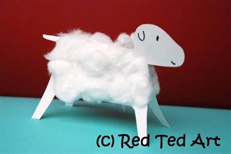 sheep craft crafts cotton wool lambs ted s