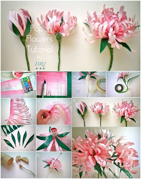 Home Decorating Parties how to diy beautiful paper chrysanthemums
