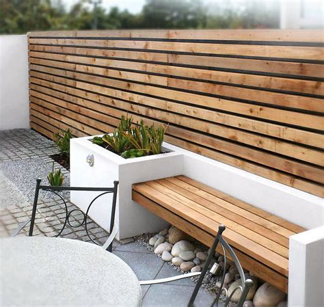 modern wood wall modern outdoor space with wood slat wall bench outdoor