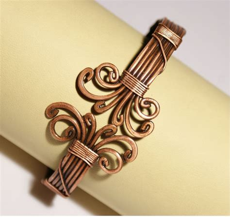 how to make copper jewelry from wire mens copper bracelet mens cuff bracelet wire wrapped