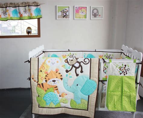jungle cot bedding sets new happy jungle animals friends baby bedding set crib set