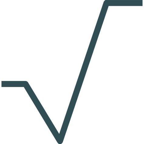 s mbolo ra z cuadrada raiz de n simbolo square root free interface icons