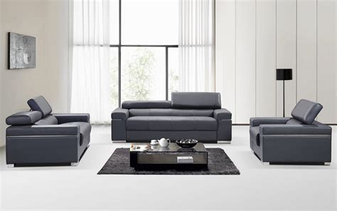 contemporary leather sofa sets contemporary grey italian leather sofa set with adjustable