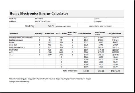 how to calculate the cost of electricity consumption household electricity usage calculator 28 images power