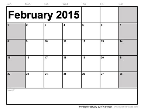 february 2015 calendar free large images