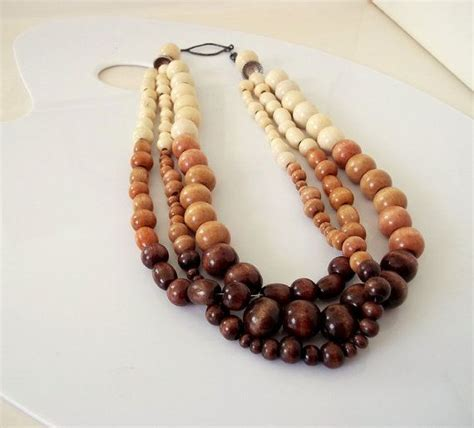 wooden bead 25 best ideas about wooden bead necklaces on