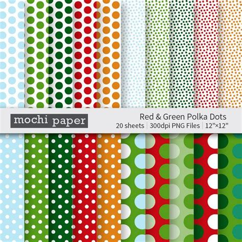 polka dot craft paper green polka dot digital paper paper