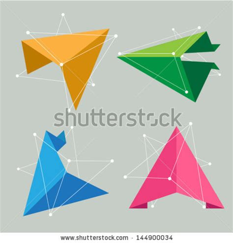 origami creative concepts delta symbol stock photos images pictures
