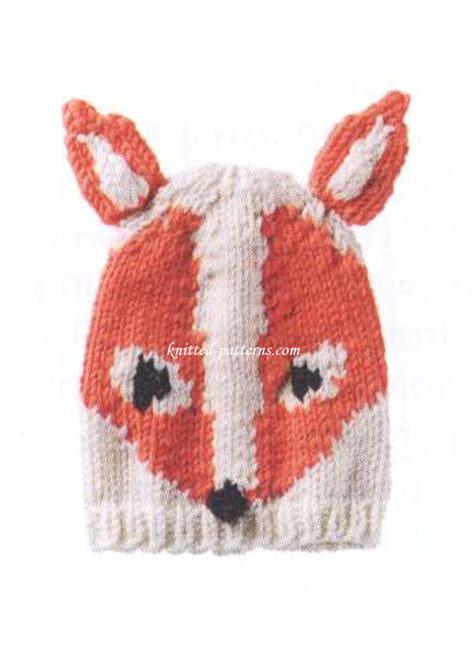 knit fox hat knitted fox hat