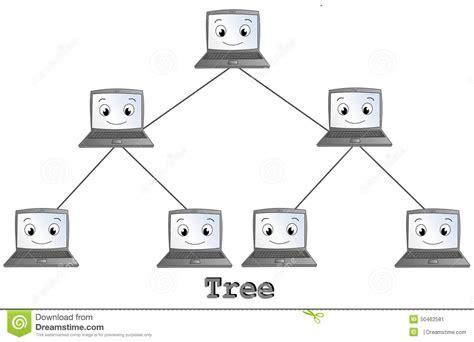 computer tree tree network topology stock illustration image of data