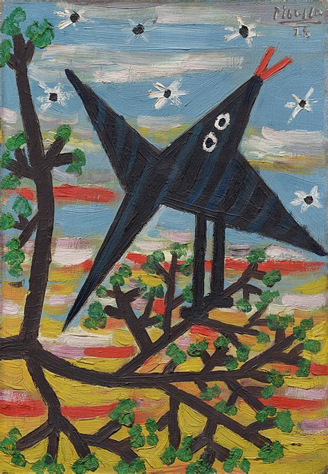 picasso paintings at the guggenheim collection pablo picasso bird on a tree l