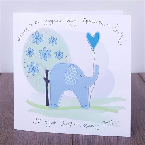 make personalised cards personalised handmade new baby grandparents cards