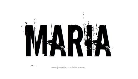 maria name tattoo designs