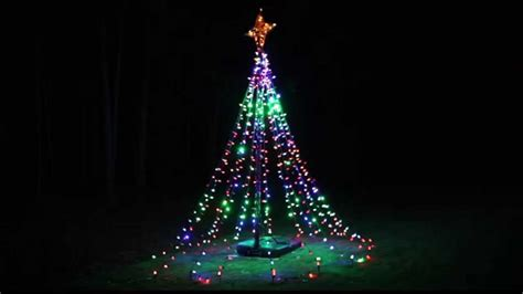 history of tree lights twinkling tree of lights diy from basketball hoop