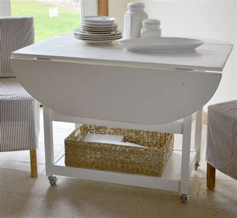 drop leaf kitchen table white white drop leaf storage table diy projects