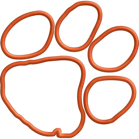 tiger paw embroidery or applique file file by