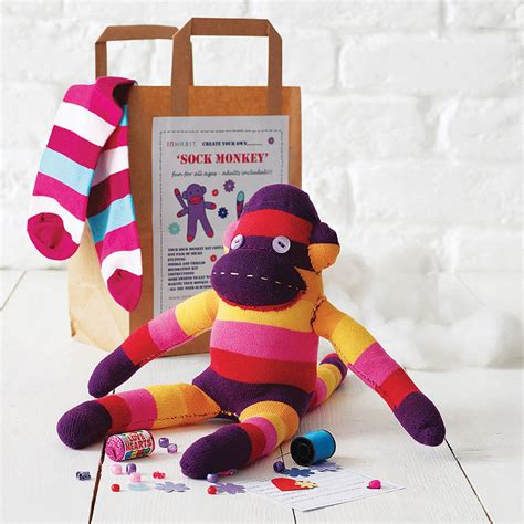 crafts kits for sock monkey craft kit by sock creatures