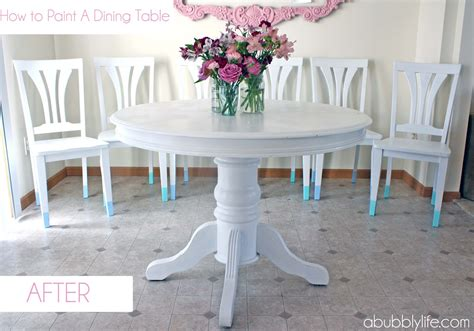 painting a dining room table a bubbly how to paint a dining room table chairs