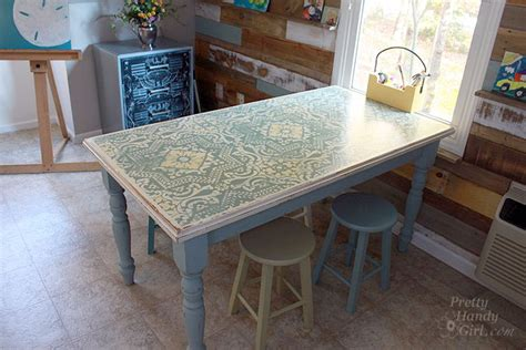 chalk paint ideas for tables chalk painted stenciled and distressed dumpster table