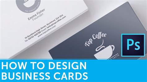 how to make board cards how to design a business card in adobe photoshop