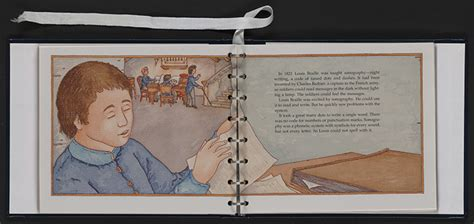 a picture book of louis braille exhibition items louis braille his legacy and influence