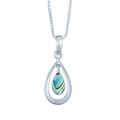 how to make abalone jewelry sterling silver abalone shell cut out teardrop necklace