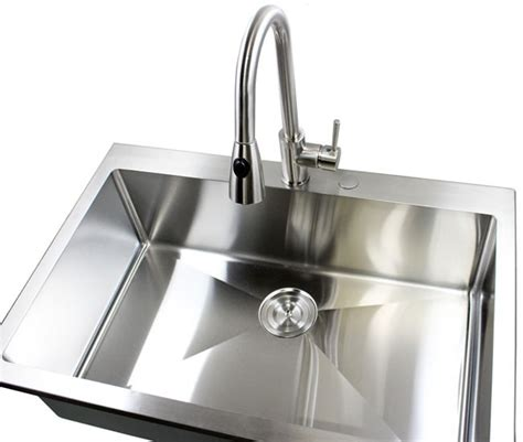 top mounted kitchen sinks 33 inch top mount drop in stainless steel single bowl