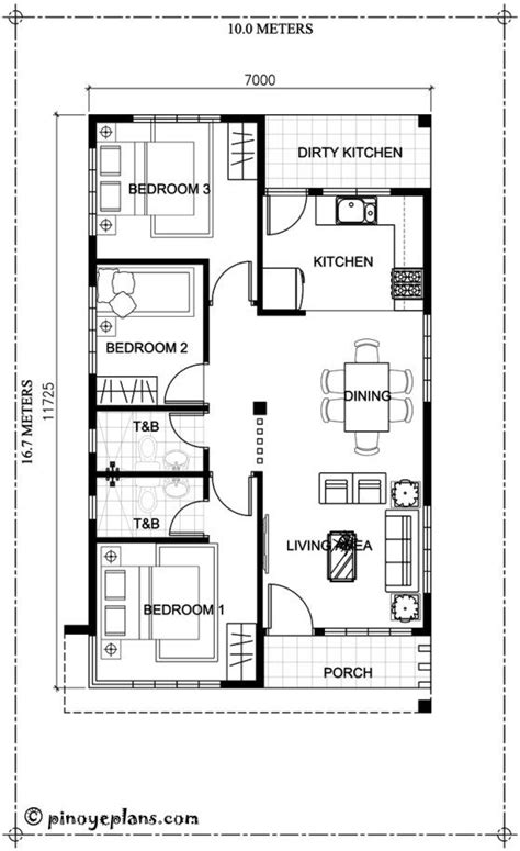 how to make house plans this 3 bedroom house design has a total floor area of 82 square meters minimum lot size